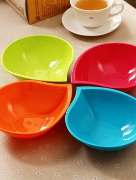 4PCS Water-Drop Shaped Fruit Salad Bowl