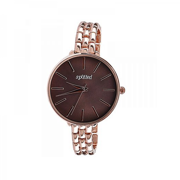 Spotted Elegant Watch with unique Taupe colored Dial - Rose Gold