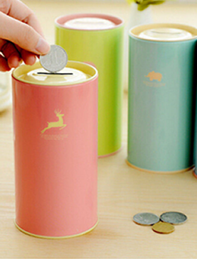 Cylindrical Piggy Bank